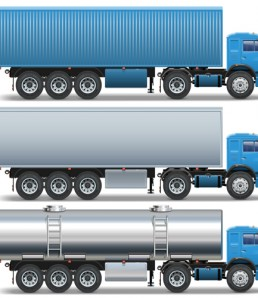 دانلود وکتور کامیون بزرگ آبی