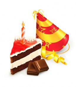 دانلود وکتور کیک تولد و شمع