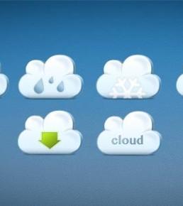 دانلود آیکون های ابر با آب و هوا