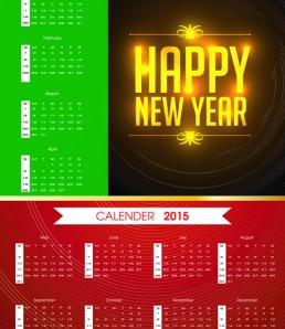 دانلود بک گراند تقویم 2015 میلادی با رنگ های شاد