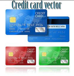 فایل مجموعه وکتور کارت های اعتباری بانک