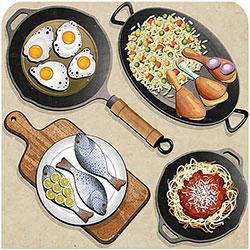 دانلود وکتور غذا،فست فود،ماهی،گوشت