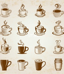 Hand-drawn-coffee-cup-icons-vector