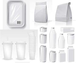 دانلود وکتور ظروف پلاستیکی