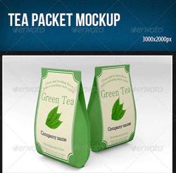 دانلود فایل لایه باز پاکت بسته بندی چای