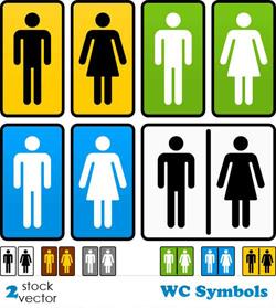 دانلود وکتور سمبل های WC