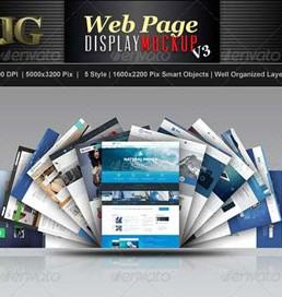 دانلود فایل لایه باز نمایش وب سایت