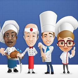 دانلود فایل لایه باز شخصیت های کارتونی آشپز