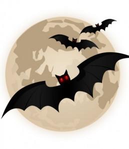 دانلود فایل لایه باز پرواز خفاش ها و آیکون ماه