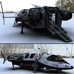 دانلود مدل سه بعدی سفینه فضایی raceta